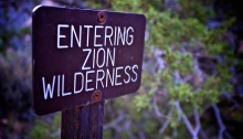 Entering Zion Wildnerness